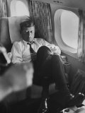 Sen. John F. Kennedy on His Private Plane During His Presidential Campaign Photographic Print