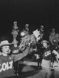 The Baltimore Colts' Cheerleaders Performing Premium Photographic Print