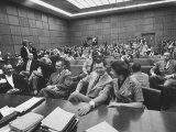 Carole Tregoff and Dr. Bernard Finch During Recess of Murder Trial Photographic Print by Ralph Crane
