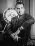 Richard M. Nixon at the White House Premium Photographic Print by Hank Walker