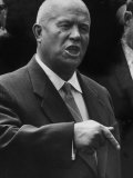 Soviet Prime Minister Nikita S. Khrushchev at the Un General Assembly Premium Photographic Print