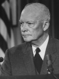 Pres. Dwight D. Eisenhower Giving TV Speech after His Return from the Orient Premium Photographic Print