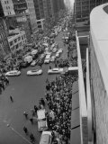 8th Avenue, Garment Workers Crowding the Streets on Way to Madison Square Garden Strike Rally Premium Photographic Print