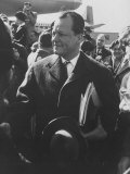 Mayor of West Berlin Willy Brandt Arriving in the Us Premium Photographic Print