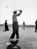 President Dwight D. Eisenhower Playing Golf Premium Photographic Print