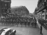 Pres. Dwight D. Eisenhower's Motorcade in Paris Premium Photographic Print by Ed Clark