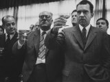 Vice President Richard M. Nixon Raising His Glass in a Toast with Us Ambassador Willard Beaulae Premium Photographic Print