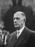 President of France General Charles De Gaulle, During Visit Premium Photographic Print