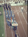 Hungary in Parade at the Summer Olympics Premium Photographic Print by John Dominis