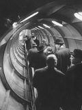 Inside Atomium at Brussels World's Fair Premium Photographic Print