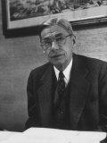 Former Harvard President James B. Conant Sitting in His Office, Giclee Print