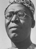 Nigerian Chieftain Obafemi Awolowo Campaigning Photographic Print