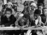 Children Attending School at the Elat Mission Photographic Print