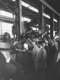 Nikita S. Khrushchev on Tour of Mesta Machine Co. Plant Premium Photographic Print by Carl Mydans