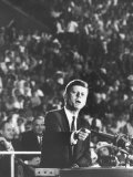 Sen. John F. Kennedy Speaking at the 1960 Democratic National Convention Photographic Print by Ed Clark