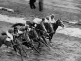 Racing at the Annual Horse Show at Hippodrome Stadium Photographic Print
