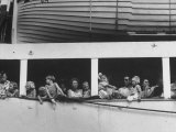 Dutch Refugees Leaving Indonesia after the Crisis Premium Photographic Print by James Burke