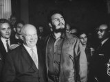 Nikita Khrushchev and Fidel Castro Attending United Nations Sessions Premium Photographic Print