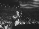 Politician Averell Harriman Speaking at the 1960 Democratic National Convention Premium Photographic Print by Ed Clark