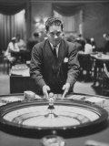 Dealer Roulette at National Casino Premium Photographic Print by Francis Miller
