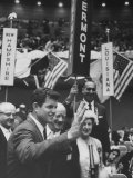 Edward Kennedy Waving Premium Photographic Print