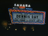 Sahara Sign Advertising Dennis Day. Las Vegas, 1955 Premium Photographic Print by Loomis Dean