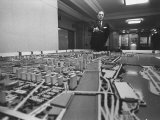 Mayor Richard J. Daley Looking over a Model of the City Premium Photographic Print
