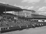 Race Track and Stands with Clubhouse with Casino at Right Photographic Print by Francis Miller