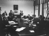 Pres. John F. Kennedy and Cabinet During Steel Crisis in the Cabinet Room Photographic Print