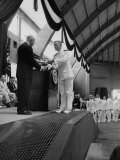 President Dwight D. Eisenhower Attending the Annapolis Naval Academy's Graduation Ceremonies Premium Photographic Print by Ed Clark