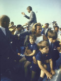 Presidential Candidate Sen. Robert F. Kennedy and Wife W. Some of their Children Campaigning Premium Photographic Print