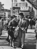 Young Couple Strolling in the Ginza Area Premium Photographic Print by John Dominis