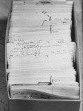 Author Vladimir Nabokovs Researched Materials on File Cards for His Book Lolita Fotografiskt tryck av Carl Mydans