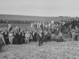 Farmer Roswell Garst and Nikita S. Khrushchev in Crowd at Garst's Farm Premium Photographic Print