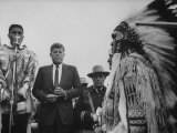 John F. Kennedy with Indians Premium Photographic Print