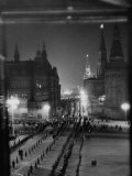Soldiers Lining Up in Red Square Premium Photographic Print