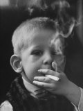 Two-Year-Old Smoking Premium Photographic Print