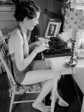 Female Student Typing a Letter at the University of Missouri Photographic Print by Alfred Eisenstaedt