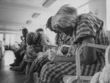 Psychiatric Patients in a Hospital Ward Premium Photographic Print by Carl Mydans