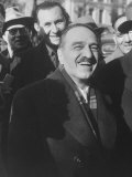 Anastas I. Mikoyan Smiling after Having a Sunday Walk Premium Photographic Print by Ed Clark
