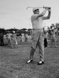 Pres. Dwight D. Eisenhower Playing Golf at Marine Corps. Golf Course Premium Photographic Print