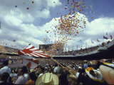 Balloons Being Released During the Opening Ceremony of the Summer Olympics Premium Photographic Print by John Dominis