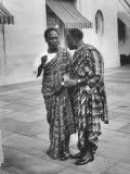 Prime Minister of Ghana, Kwame Nkrumah with Amb. Daniel Chapman Premium Photographic Print by Ed Clark