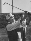 President Dwight D. Eisenhower Playing a Game of Golf Premium Photographic Print