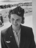 Soviet Flight Stewardess at Tashkent Airport Premium Photographic Print