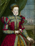 Print of Mary Queen of Scots after Portrait by Zuccaro Impressão fotográfica premium