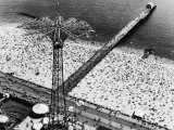 Coney Island Parachute Jump Aerial and Beach. Coney Island, Brooklyn, New York. 1951 Photographic Print by Margaret Bourke-White