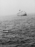Italian Liner Andrea Doria Sinking in Atlantic after Collision with Swedish Ship Stockholm Premium Photographic Print by Loomis Dean