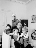 Canadian Prime Minister Pierre Trudeau with His Wife and Children at Home Premium Photographic Print by Alfred Eisenstaedt