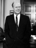 House Minority Leader Sen. Gerald R. Ford. in His Office Premium Photographic Print